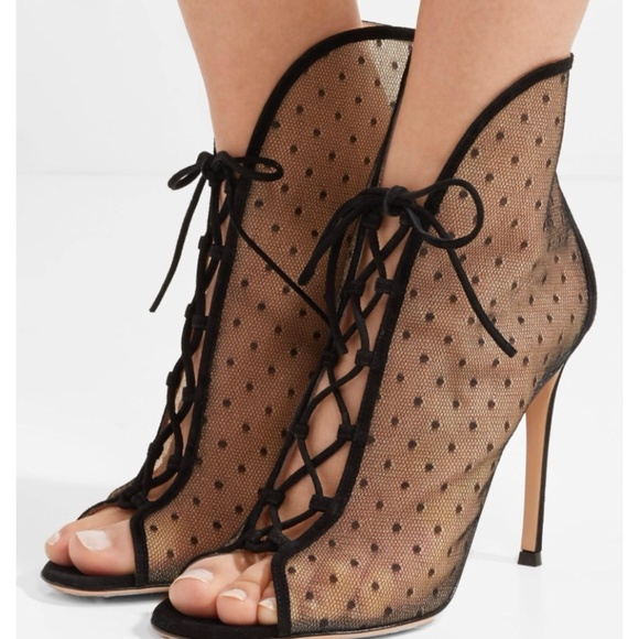 really sale online Gianvito Rossi Suede & Mesh Ankle Boots discount outlet store authentic online outlet store sale online psih2bzt